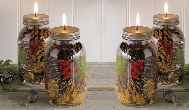 mason jar oil candles scented with essential oils