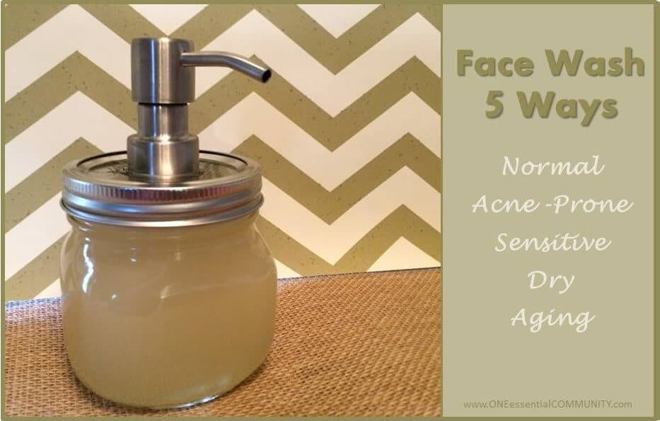 foaming face wash 5 ways for 5 skin types horizontal