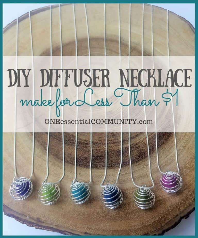 Make your own essential oil diffuser necklace for less than $1 each and in less than 1 minute