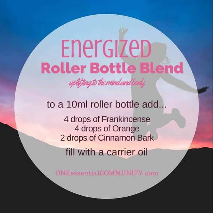 """energized"" roller bottle blend uplifts the mind and body-- LOVE this!! amazing find! there are tons of great roller bottle blends {and FREE super cute labels} for all kinds of emotions-- calm, focus, grounding, balance, gratitude, happy, energy, comfort, motivation, courage, confidence, cheer, creativity, and more!!"