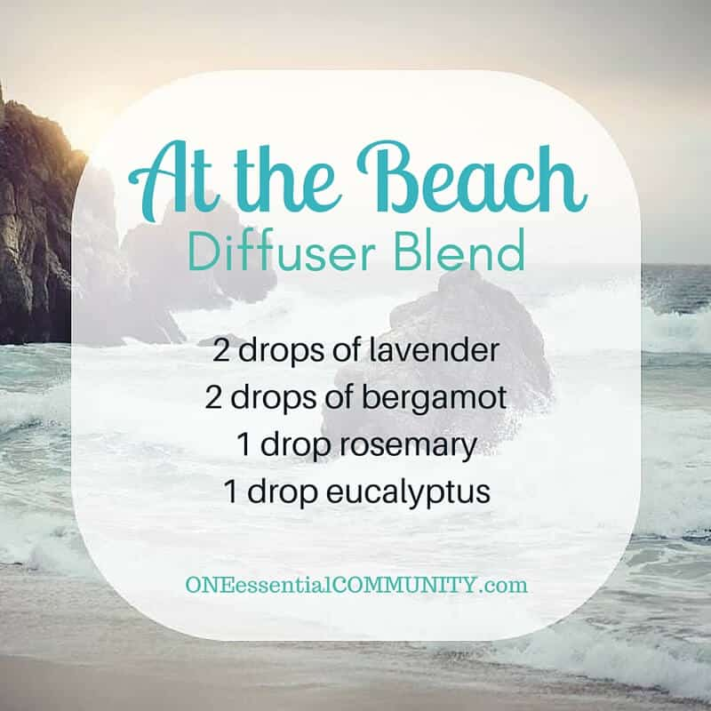 Best Summer Esssential Oil Diffuser Blends with FREE PRINTABLE-- recipes that smell like the beach, lemonade, a summer hike, time at the lake, a chilled mojito, a sea breeze, and more!