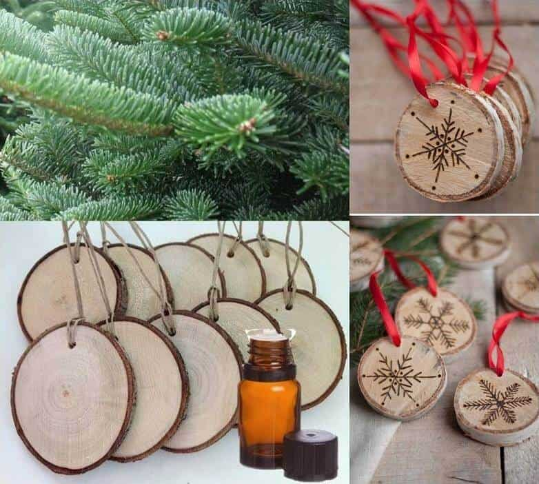 25+ easy homemade essential oil gifts for Christmas- includes bath bombs, soaps, scrubs, perfume, ornaments, mugs, diffuser necklaces, and more!