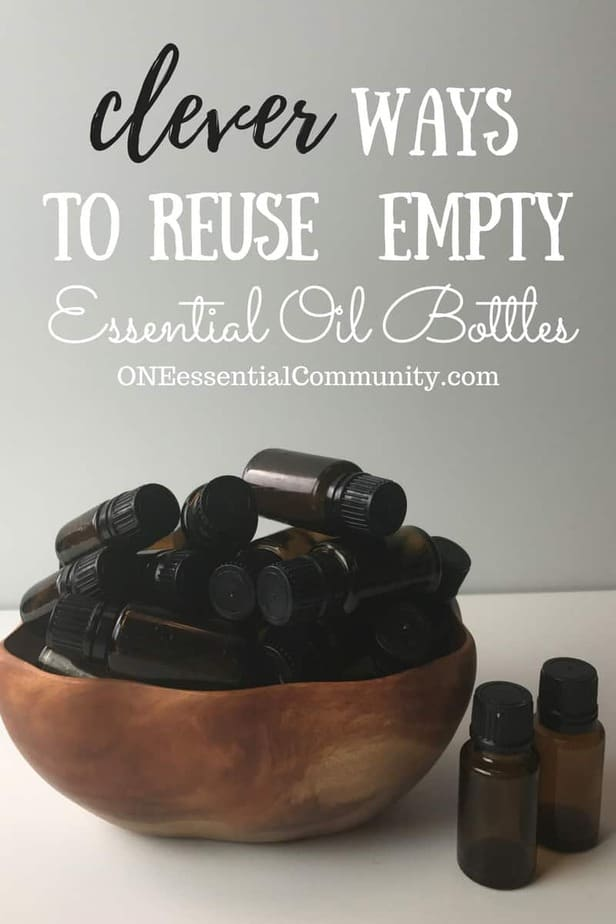 30 essential oil uses for empty (or almost empty) bottles! So many great essential oil recipes including hand sanitizer, pillow spray, diffuser blends, owie spray, personal inhalers,