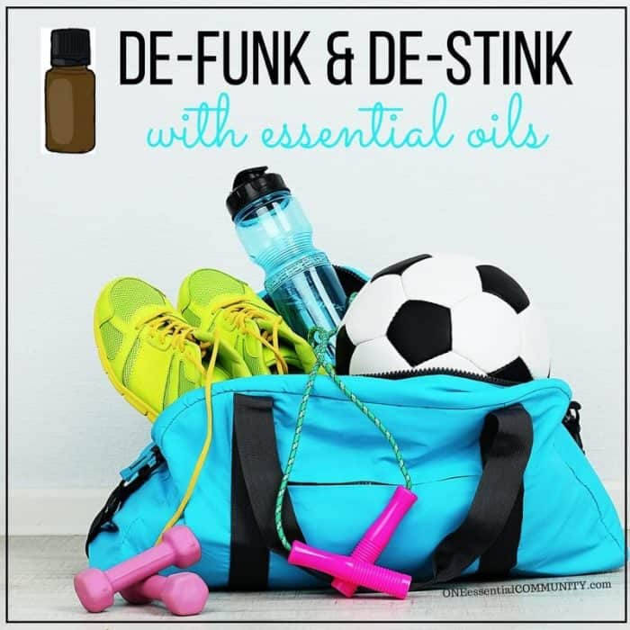DIY Stinky Shoe & Sports Gear Spray {essential oils} - simple to make, even stinkiest shoes, knee pads, shin guards, yoga mats and other sports gear smell fresh & clean again. A couple sprays of this all-natural powerful deodorizer knocks out shoe & foot odor in no time!