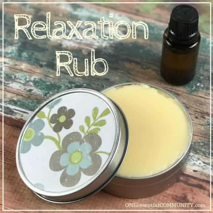 Easy essential oil relaxation rub recipe - great for reducing stress & anxiety, sleep, calming, balancing, & relaxing (just 3 ingredients)