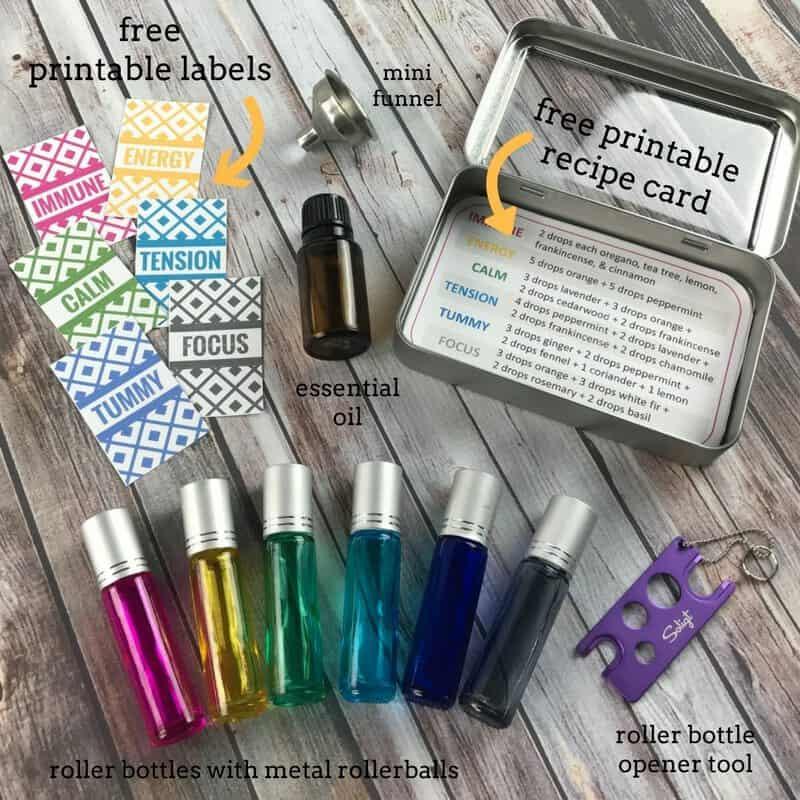 Roller Bottle Recipes Free Printable Labels Tin Case