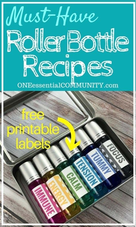 Roller Bottle Recipes Amp Free Printable Labels One