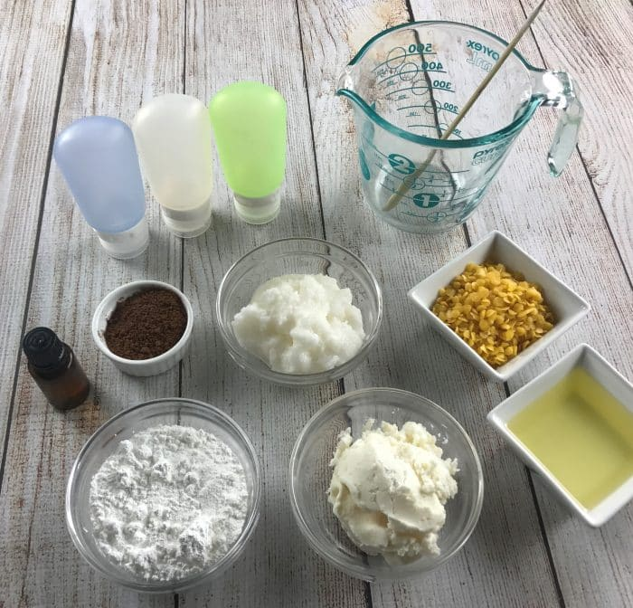 I love this homemade essential oil sunscreen recipe. It's water resistant, protects against UVA and UVB , and SPF 30+. Plus it rubs in completely and it's not sticky or overly greasy.