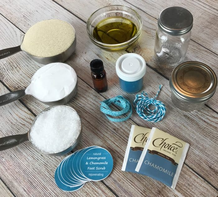 """This homemade foot scrub has extra """"oomph"""" to get dry, cracked heels and tough soles sandal ready. And it smells amazing!!made with lemongrass, chamomile, and lavender essential oils."""