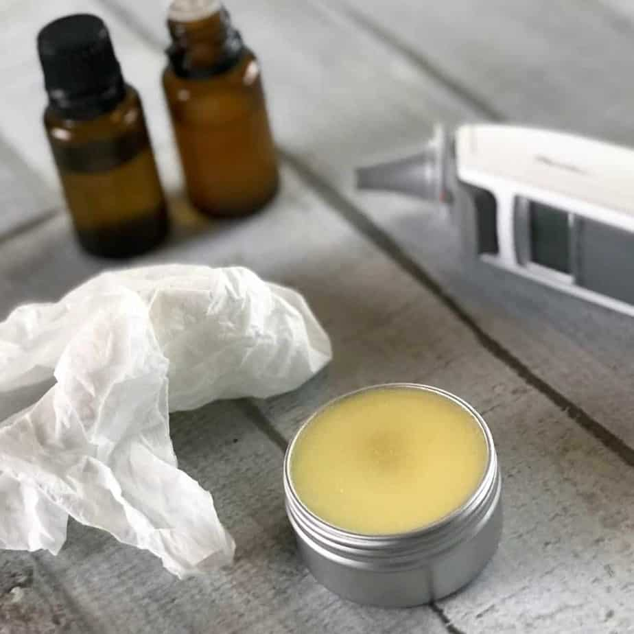 homemade vapor rub for colds & flu. Opens sinuses, clears congestion, relieves headache, soothes aches, and helps get a great night's sleep. essential oil recipe, essential oil DIY, essential oils for colds & flu, natural remedy, DIY recipe, #essentialoilrecipe #essentialoilDIY #doterra #youngliving