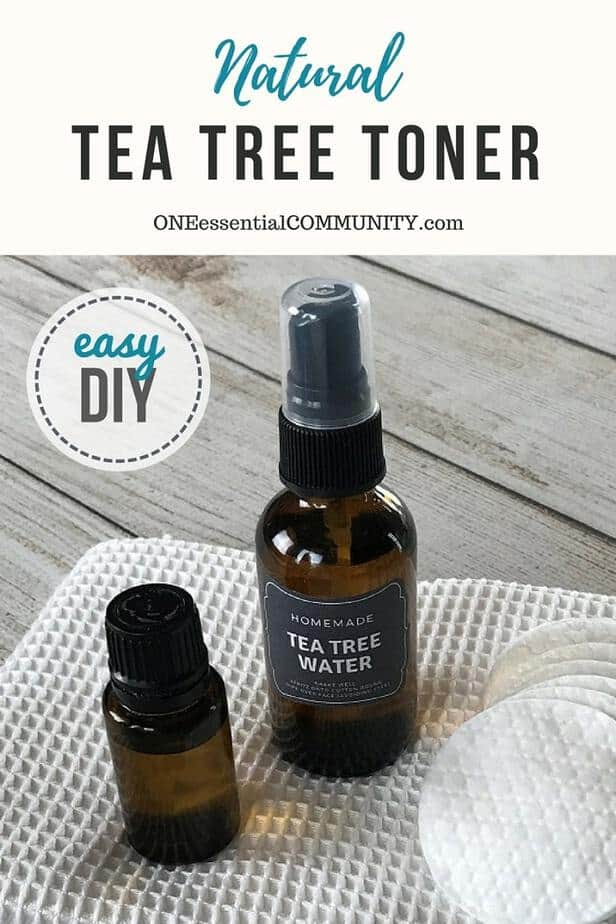 Essential oil toner for acne controls excess oil, shrinks appearance of pores, soothes skin