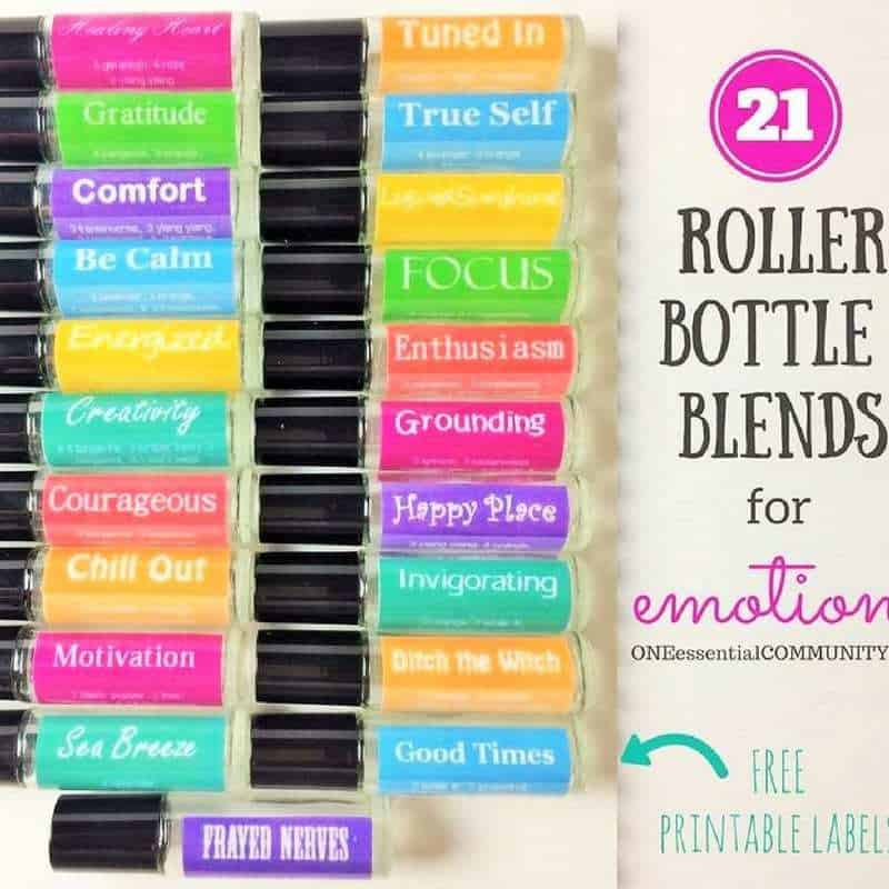 picture relating to Printable Essential Oil Labels known as 21 Roller Bottle Recipes for Feelings (Totally free PRINTABLE LABELS