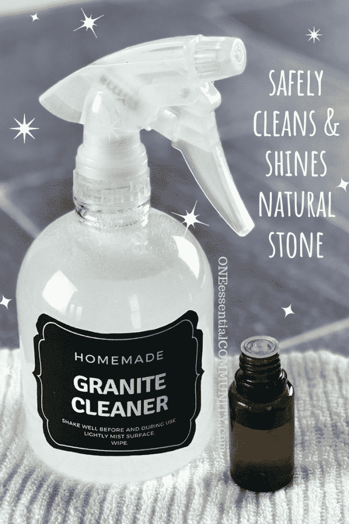 Best Diy Granite Cleaner Ever Safely Cleans Shines Natural Stone Like Marble